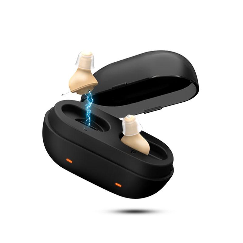 AST欧仕达无线充电隐形年轻人助听器老人耳聋耳背专用正品C5