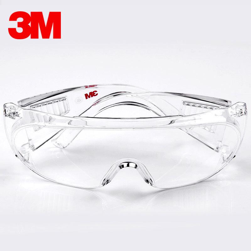 3M护目镜防护眼镜防尘透气劳保防飞溅骑行防风沙灰尘透明平光男女