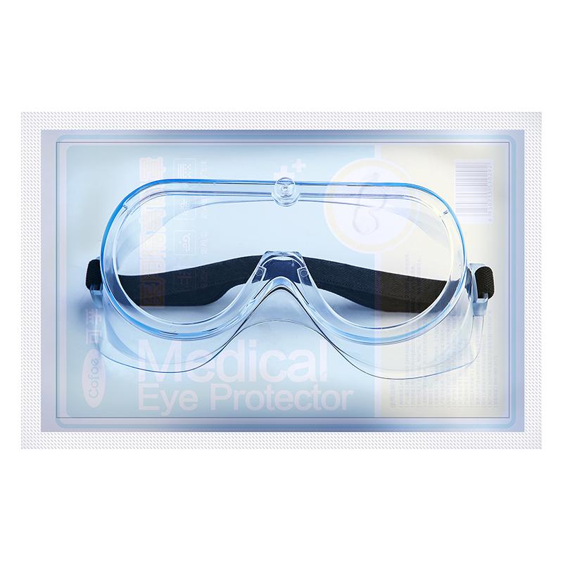 可孚护目镜全封闭式防尘防雾透气防风沙防护眼镜劳保防飞溅沙尘暴