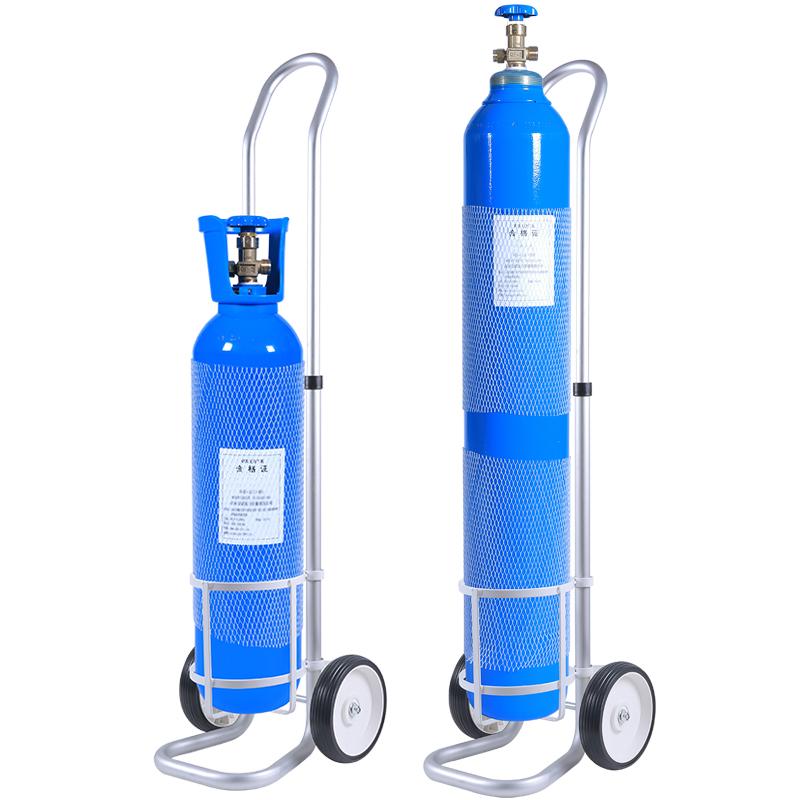 便携式医用氧气瓶8/10/15升家用老人吸氧小型钢瓶高原缺氧孕妇