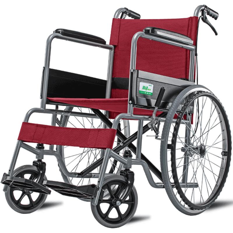 可孚轮椅家用折叠轻便老人手推车小便携多功能超轻老年人残疾代步